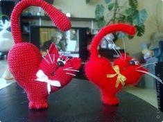 Мастер-класс Валентинов день Вязание крючком к дню Святого Валентина Нитки фото 1