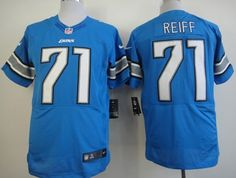 nike detroit lions 71 riley reiff light blue elite jersey