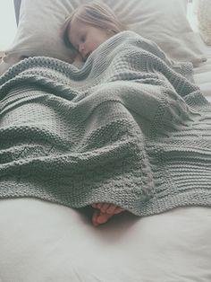 SknitsB Wee Blocks Baby Blanket Knitting Pattern