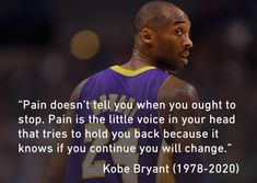 [Image] Wise words from kobe Kobe Quotes, Kobe Bryant Quotes, Life Motivation, Weight Loss Motivation, Running Motivation, Kobe Bryant Pictures, Anime Pictures, Kobe Bryant Black Mamba, Lakers Kobe Bryant
