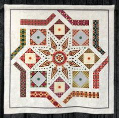 """Quilts at Spring Market: """"Monreale & Mom"""" by Lynda Lynn Handi Quilter, International Quilt Festival, The Quilt Show, Quilting Frames, Miniature Quilts, Star Quilts, Machine Quilting, Longarm Quilting, Quilting Designs"""