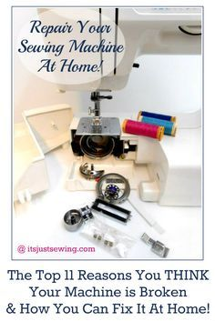 Troubleshooting 101 for most machine issues. It's a must see before going to the sewing machine repair man!