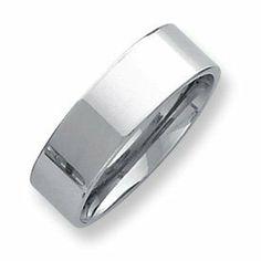 Palladium Flat Comfort Fit 7.00mm Band Ring - Size 9 - JewelryWeb JewelryWeb. $770.90. Save 50% Off!