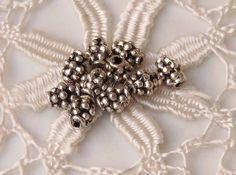 Antiqued silver pewter hobnail oval bead spacer 10pc WBS0014, €1,43