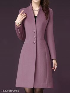 Band Collar Plain Coat Band Collar Plain Coat Find latest women's clothing, dresses, tops, outerwear, and other fashion clothing and enjoy the worldwide shipping # Winter Coats Women, Coats For Women, Fall Coats, Women's Coats, Trench Coats, Dress Outfits, Fashion Dresses, Fashion Coat, Maxi Dresses