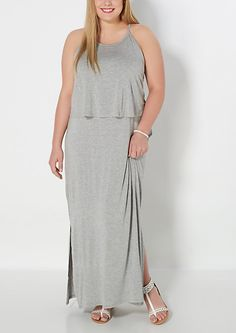 1ef74d45f4e Plus Gray Popover Maxi Dress. Rue 21 ...
