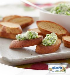 A little mint makes this treat something delightfully unexpected. If you're looking for a snack that's new and exciting, serve this spread at your next brunch, garden party or family get-together. Get some Philly Herb & Garlic Light Cream Cheese, mint, Parmesan cheese and peas, and 20 minutes later, you'll have this great DIY appetizer all good to go!