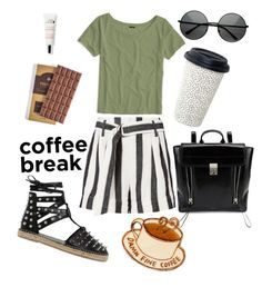 """""""But First, Coffee Break ☕️🍫"""" by marleigh-erin on Polyvore featuring Frame, J.Crew, Sarah Summer, 3.1 Phillip Lim, contestentry and coffeebreak"""