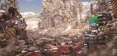 DeviantArt's shares a dystopian, sci-fi vision of the future. His work includes an undeniable nod to Hong Kong architecture & Kowloon Walled City. Matte Painting, Hong Kong Architecture, Kowloon Walled City, Cyberpunk Art, Environment Concept, Environment Design, Future City, Environmental Art, Sci Fi Fantasy