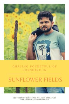 Visiting flower fields always puts a smile on my face as flowers instantly lift my mood up! They chase away anxieties and worries, filling me with cheerfulness. Plan a visit to a sunflower field around sunrise or sunset for stunning photographs and everlasting memories, that can be cherished even years after the trip. A large spread of yellow-painted fields with a sprinkle of greenery under the blue sky makes for a surreal view! #sunflowerfields #karnatakatourism See You Around, Virtual Travel, Sunflower Fields, Yellow Painting, Karnataka, Budget Travel, Wander, Greenery, Travel Inspiration