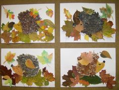Autumn Crafts, Autumn Art, Nature Crafts, Autumn Theme, School Art Projects, Arts And Crafts Projects, Hobbies And Crafts, Autumn Activities For Kids, Fall Preschool
