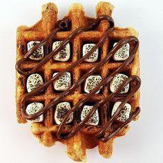 It's Been a Long Day Waffle: Roasted Marshmallows   Nutella   Belgian Waffle (Taster: @waffleu) by tastetoronto