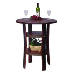 Napa Bistro Table is made from recycled wine barrels | rustic furniture | wine barrel ideas