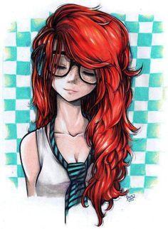 Redhead drawing.