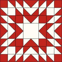 Block Twenty in Red and White. Quilt Square Patterns, Patchwork Quilt Patterns, Barn Quilt Patterns, Square Quilt, Pattern Blocks, Christmas Blocks, Christmas Quilt Patterns, Christmas Quilting, Christmas Tables