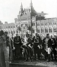 TSAR NICHOLAS II OF RUSSIA ON RED SQUARE. 1913, CELEBRATING 300 YEARS OF THE ROMANOV DYNASTY