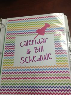Awesome Bill Organizer! Lets you keep up with what's due when, and puts the bills all in one place without filing in a cabinet. Can't wait to make! I got lots of markers :)