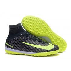 Botas De Futbol Sala Nike MercurialX Proximo Superfly V CR7 TF Negro Verde  Blanco bcaf92a5521b0
