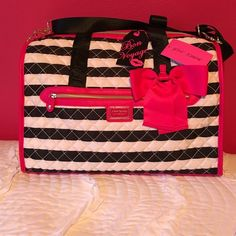FINAL PRICEBetsey Johnson weekend nylonstripe Betsey Johnson weekender nylon stripe. Also available on Ⓜ️ for cheaper:) Betsey Johnson Bags Travel Bags