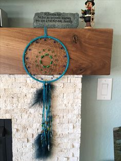 turquoise dream catcher with peacock beads