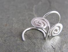 Small Spiral Stud Earrings. No Back Studs. Argentium Sterling Silver. by phoenixmtncreations $18.00