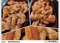 Domácí housky se slaninou recept - TopRecepty.cz Potatoes, Vegetables, Food, Potato, Essen, Vegetable Recipes, Meals, Yemek, Veggies
