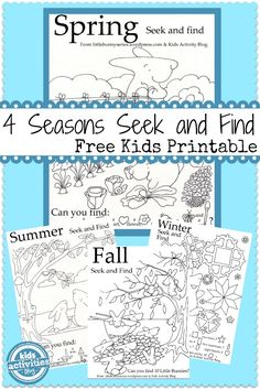 4 seasons seek and finds free printable - Free Printable Kids Activities