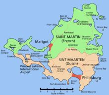 Saint Martin/Sint Maarten, french and dutch in the Northeast Caribbean