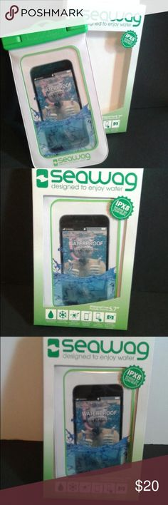 Seawag waterproof phone case green and white Seawag waterproof phone case green and white fully waterproof snow proof 💦 keep calling continuous enjoy touchscreen and underwater photos and videos seawag Accessories Phone Cases