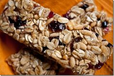 Chewy Cherry Almond Granola Bars  2 cups old-fashioned oats  1 cup chopped or sliced almonds  1 cup puffed brown rice cereal  1 cup dried cherries, chopped (or a mix of raisins and cherries)  2 tablespoons unsalted butter  3/4 cup honey  3 tablespoons light brown sugar  1 teaspoon pure vanilla extract  1/4 teaspoon almond extract  1/2 teaspoon kosher salt