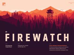 Interior feature spread for the Firewatch cover story I published yesterday of Press Start To Begin.