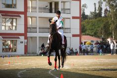 Horse riding in Tula's International School on annual sports day in Dehradun, Uttarakhand, India