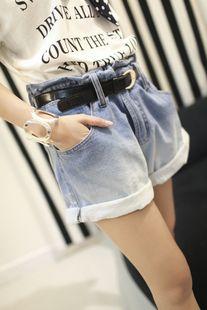~  stylenanda loose curl of the gradient high waist denim shorts