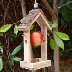 Wooden House Shaped Bird Feeder for £13.00 at www.lisaangel.co.uk