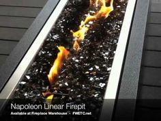 Napoleon Linear Firepit - add a fire accent piece practically anywhere.
