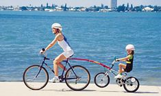 Trail-Gator Child Bike Tow Bar - one option for towing a child's bike