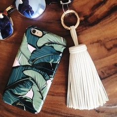 """Large Tassel Keychain Cream colored tassel keychain is perfect for spring! Faux leather and measures approx 7"""" long - you'll definitely never lose your keys again with this baby! Boutique Accessories Key & Card Holders"""