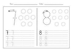 Fitxes caligrafia numeros 1 9 Classroom Crafts, In Kindergarten, First Grade, Homework, Cards, 1, Angel, English Activities For Kids, Literacy Activities