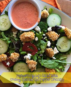 """Popcorn Chicken Salad is a great way to stick to the """"zone"""" and still get all the healthy veggies and protein you need!"""
