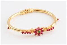 Ethnic Kemp Bracelet Bangle, Gold Plated openable Bracelet by JhumkaJunction on Etsy https://www.etsy.com/listing/221228055/ethnic-kemp-bracelet-bangle-gold-plated