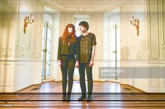 Victoria Legrand (L) and Alex Scally (R) of Beach House photographed during a portrait session in Baltimore, Maryland, United States on 12th APril 2012.