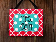 1000+ ideas about Teacher Name Signs on Pinterest | Best teacher ...