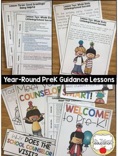 Pre-K / Primary classroom Guidance Lessons for the year on topics like kindness, empathy, anxiety and worries, anger management and more! Elementary School Counselor, School Counseling, Elementary Schools, Character Education Lessons, Kids Mental Health, Guidance Lessons, Primary Classroom, Anger Management, Anxiety