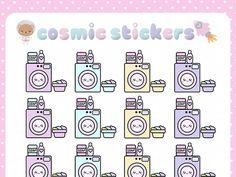when i call — Kawaii Laundry Planner Stickers (Washing Machine,...