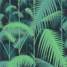 Palm Jungle, col. Vert, Cole & Son (Au Fil des couleurs)