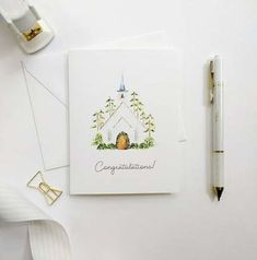 Wedding Congratulations Card, Bridal Shower Card, Hand-Painted Card, Watercolor Bridal Shower… – The Best Ideas Wedding Cards Handmade, Card Wedding, Wedding Invitations, Wedding Congratulations Card, Watercolor Cards, Watercolor Ideas, Watercolor Wedding, Watercolor Painting, Bridal Shower Cards