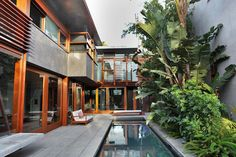 architect David Hertz's house in Venice - as seen in Californication - they call this style Balinese Modern...