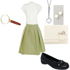 """Nancy drew inspired outfit"" by elizabeth-nixon on Polyvore"
