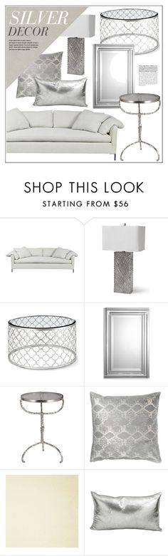 """Silver Home Decor"" by kathykuohome ❤ liked on Polyvore featuring interior, interiors, interior design, home, home decor, interior decorating, Radley, JEM, Abella and Silver"
