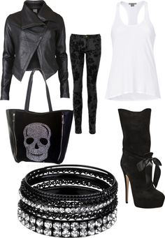 """""""rock"""" by monaz30571 ❤ liked on Polyvore"""